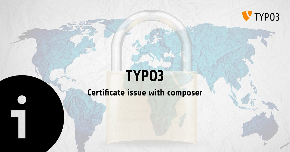 Typo3 Project On Twitter Due To A Change Of The Ssl Certificate