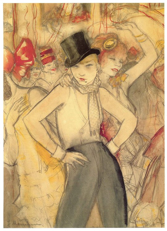 Jeanne #Mammen,  She Represents c. 1927-30. #Rosenmontag <br>http://pic.twitter.com/l99pAUqBs4