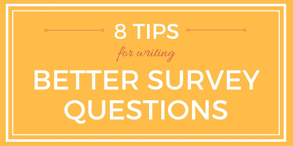 survey writing tips This paper provides hints and tips on writing for research reports tables and graphs are also important presenting survey results – report writing 2.