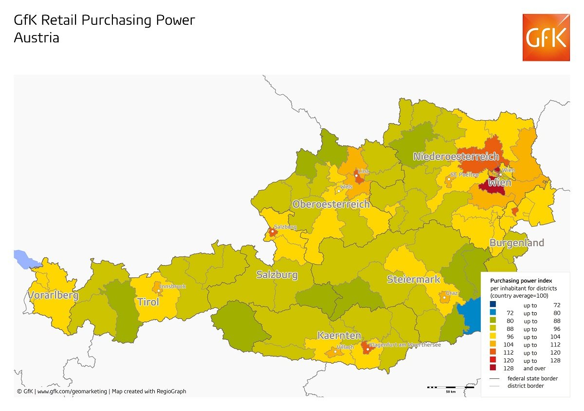 GfK on Twitter MapMonday Where is retail PurchasingPower