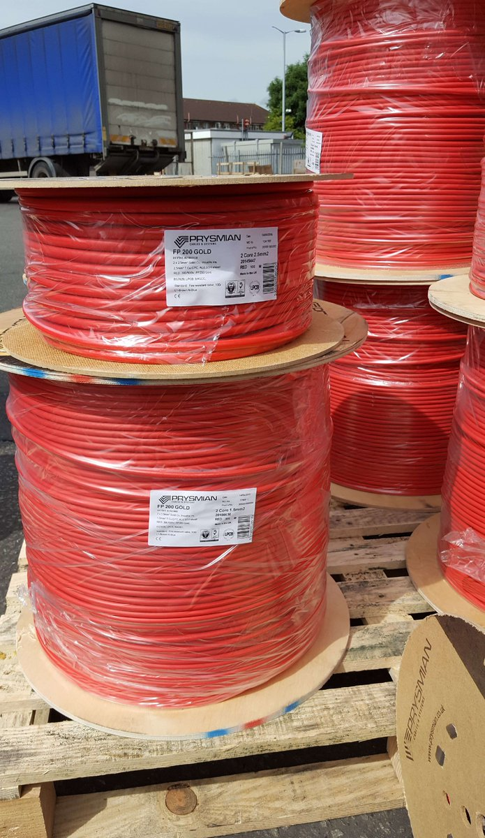 Other Wire, Cable & Conduit Business & Industrial 100m Hearty Prysmian Fp200 Gold 1.5mm 2 Core & Earth Fireproof Cable Lsoh White