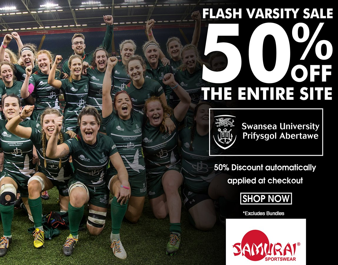 test Twitter Media - FLASH VARSITY SALE! Get a Velocity Polo and Trackpant Bundle for just £20 or get an amazing 50% off all products on the @SwanseaUni club shop! Be quick as this sale won't be around for long! Visit the shop here>>https://t.co/oalv04ycXH  #Varsity #Sale https://t.co/8pGe5KlK2B