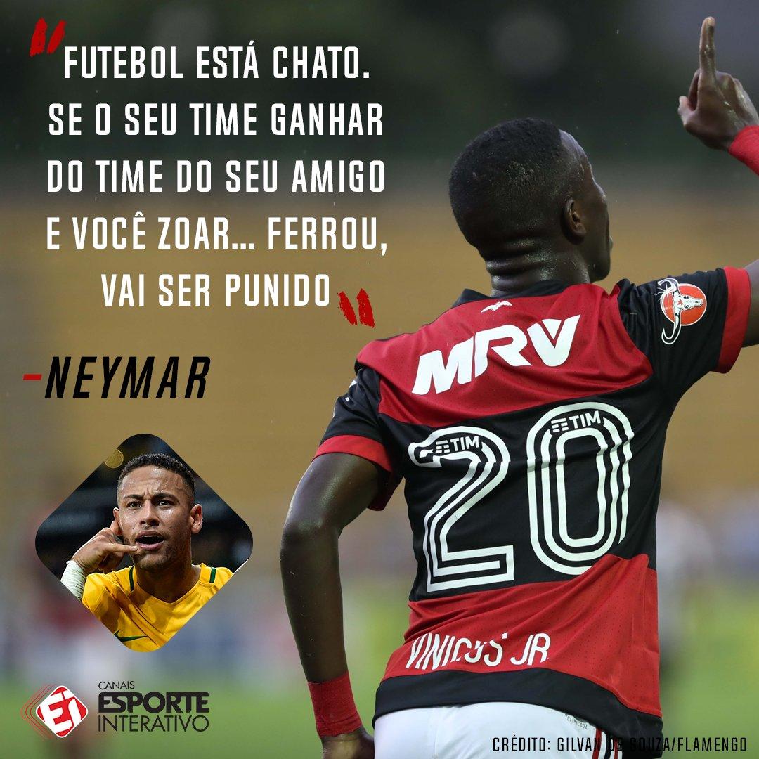 'O FUTEBOL ESTÁ CHATO'! Em rede social, Neymar saiu em defesa de Vinicius Jr, que comemorou um gol contra o Botafogo fazendo o 'chororô'!