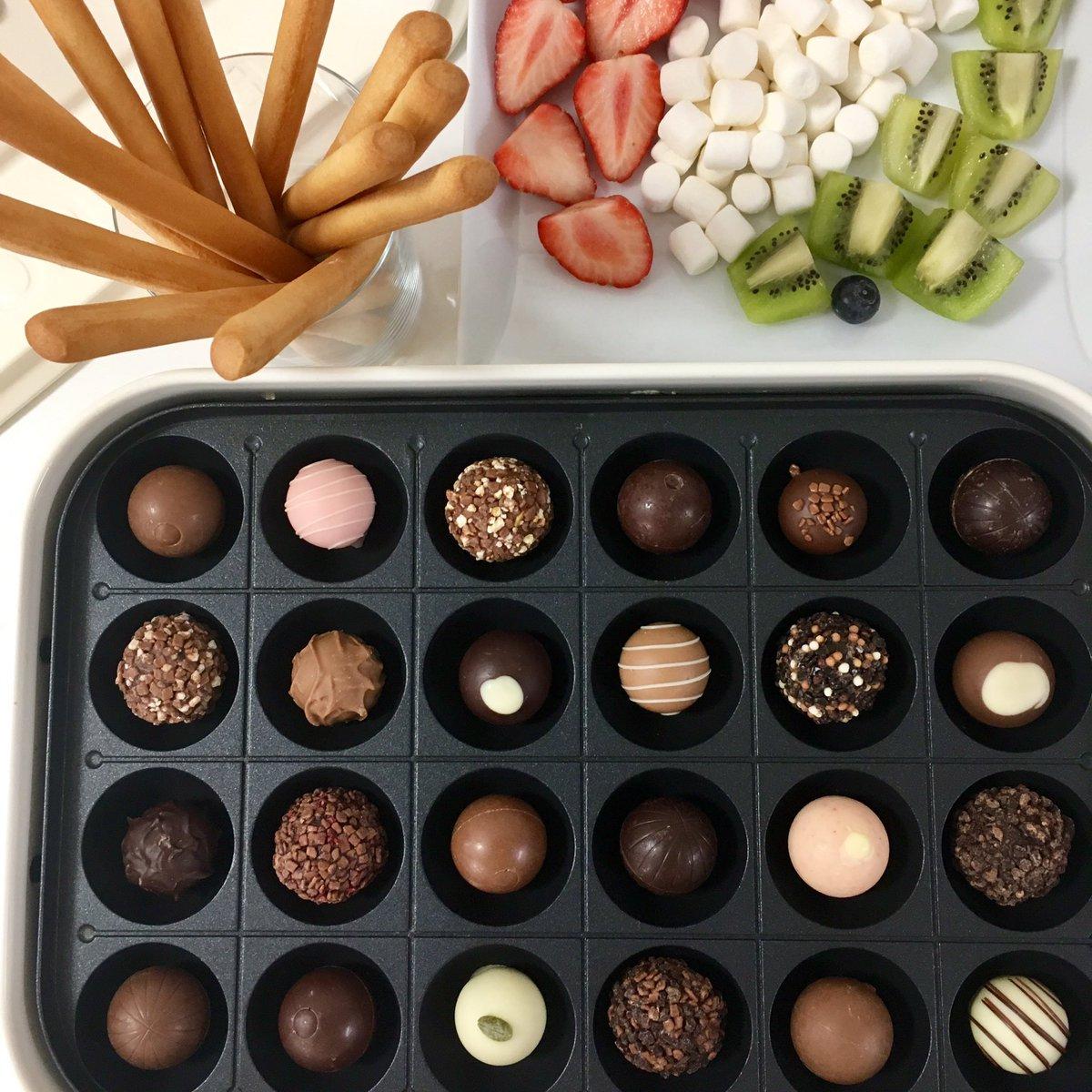 5メーカーのチョコレート使用www タコ焼き機のセレブすぎる使い方がコチラwww