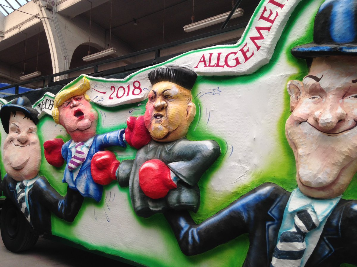 #Rosenmontag  - just a few of the pictures of Carnival Floats posted on Twitter today. Political satire is alive and kicking in Germany. <br>http://pic.twitter.com/30gaKVqTJL