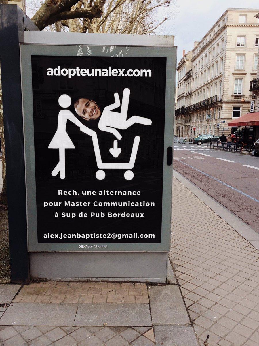 alex on twitter   u0026quot bordeaux   quand un cv devient une affiche publicitaire  s     t co