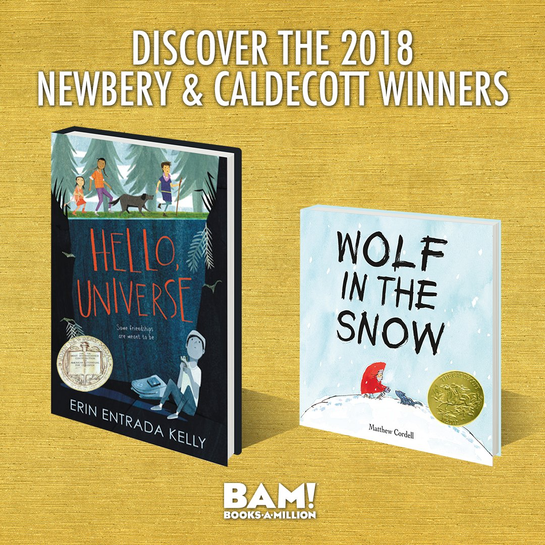 Available now at BooksAMillion.com, discover the 2018 American Library Association Newbery(bit.ly/2ssssC4) and Caldecott (bit.ly/2sr0AOJ) award winners.
