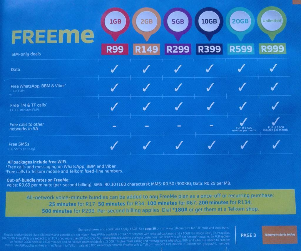 Telkomza On Twitter Hi In Regard To Our Freeme Packages We Do Have Free Social Media Data For Whatsapp Viber And Bbm Kindly Follow The Below Link For More Information Regarding Our