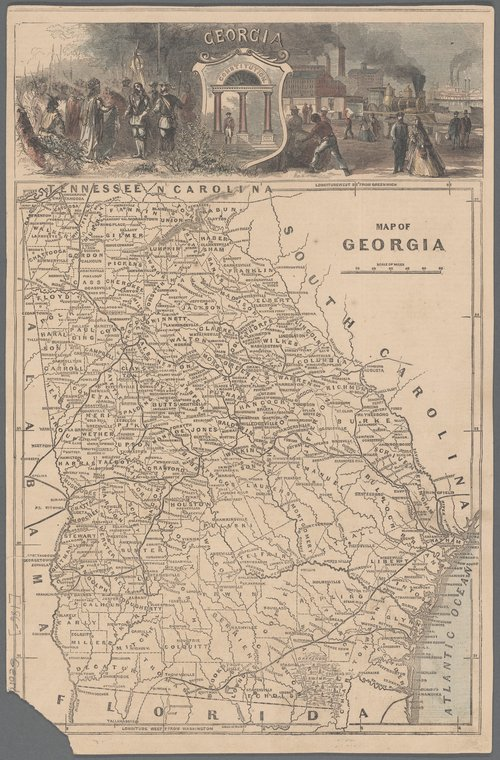 Map Of Georgia Colony.Nypl Map Division On Twitter Otd 1733 James Oglethorpe Founded