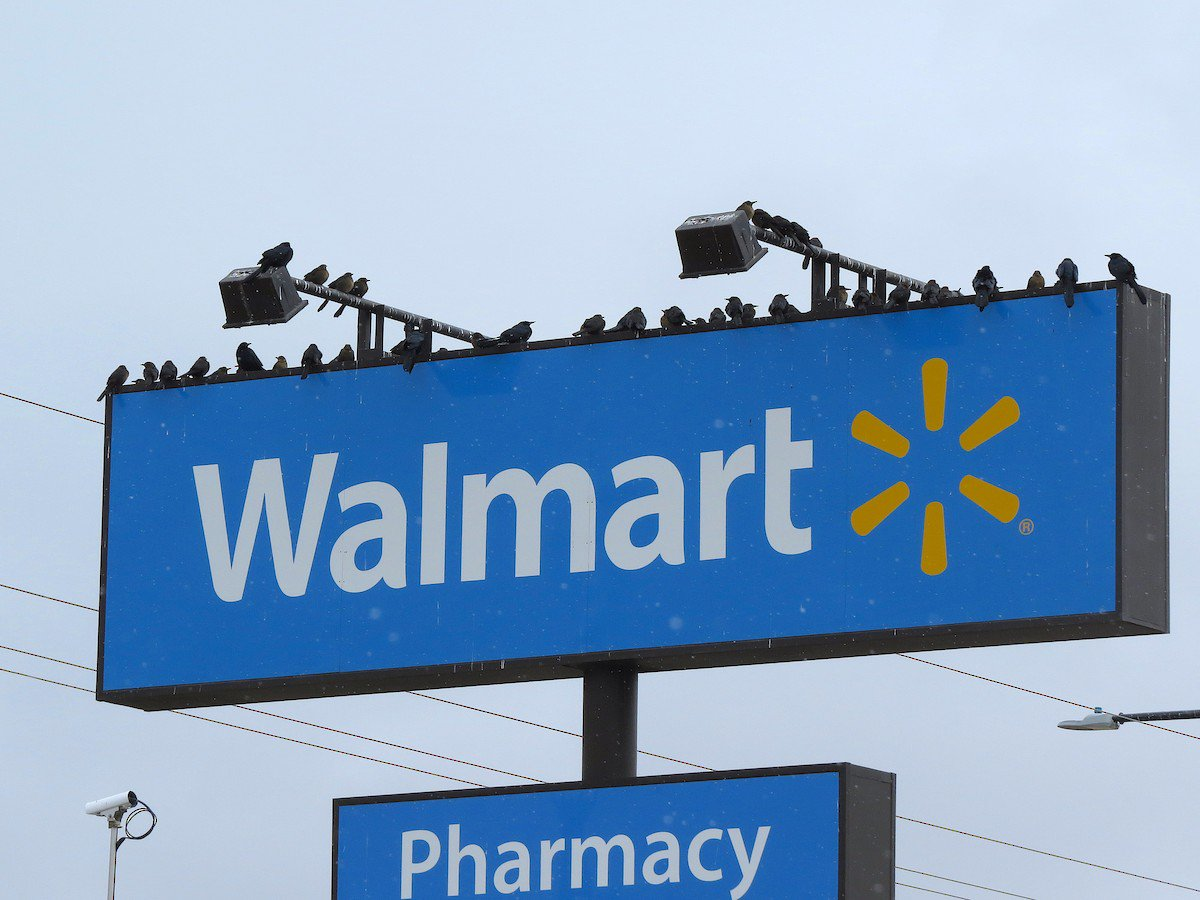 WHAT SHOULD YOU DO if you see 49 Great-tailed Grackles perched on a @Walmart sign? Thats easy! Put it on eBird: tinyurl.com/zhusqg4