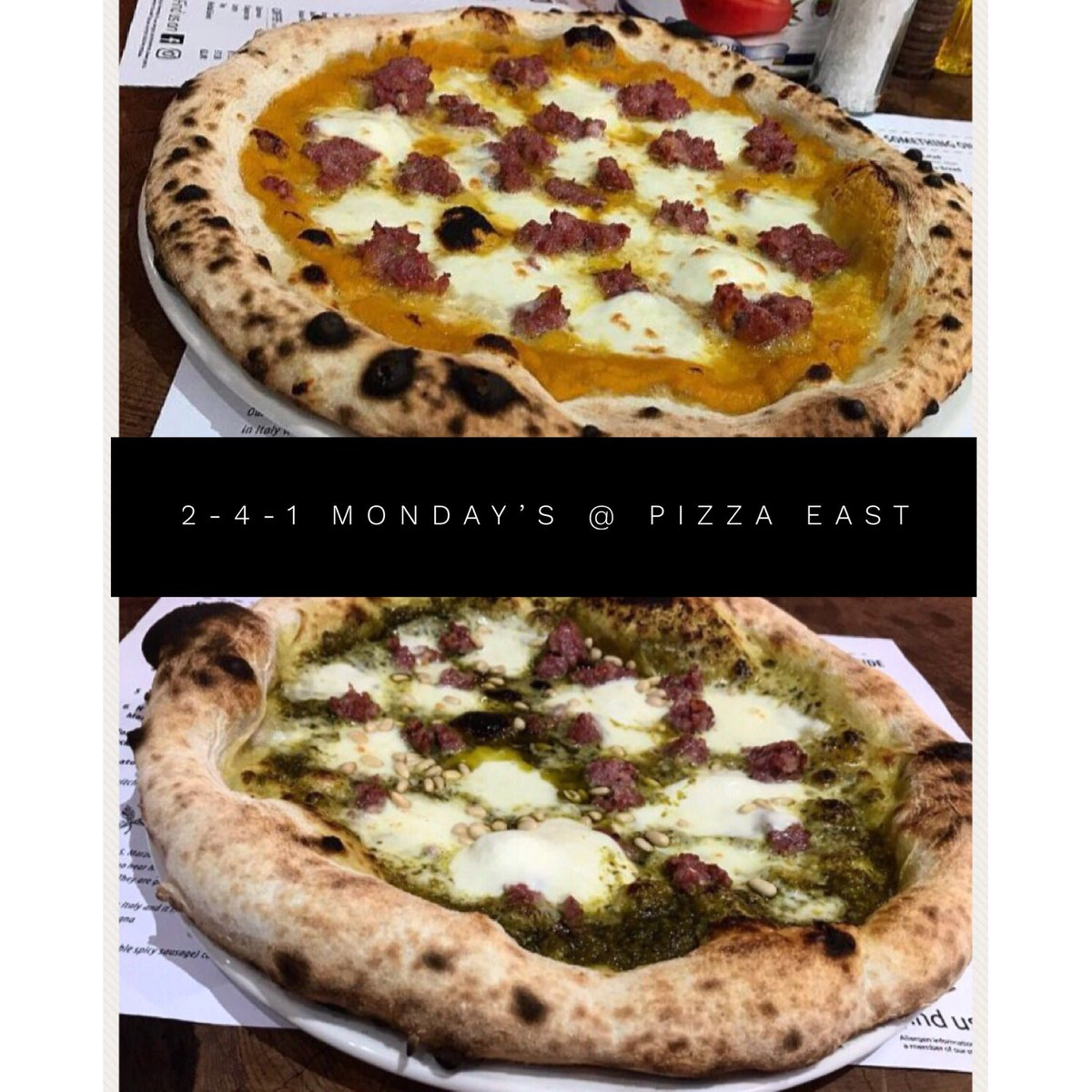 Pizza East Glasgow On Twitter Monday Offer On All