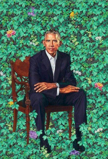 Simply Iconic💜 #ObamaPortraits #BlackExc...