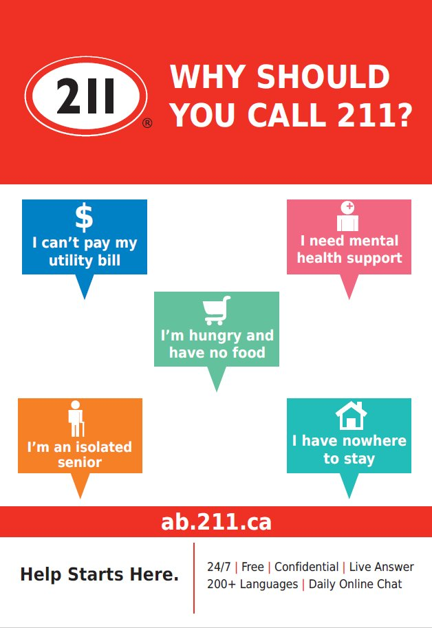 Cmha Edmonton On Twitter This Weekend We Celebrated 211 Day Help