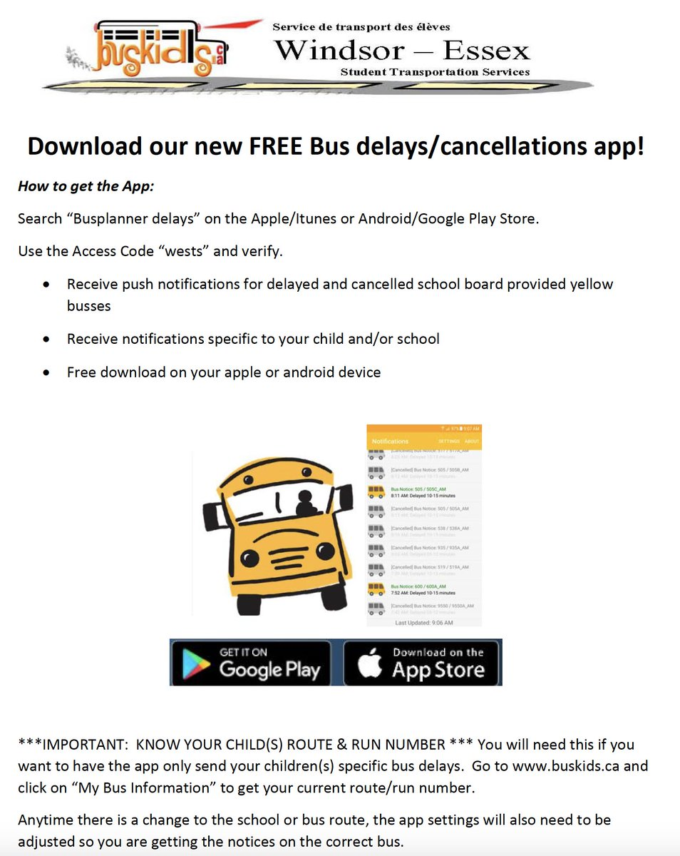Wecdsb On Twitter Student Transportation Services Created An App
