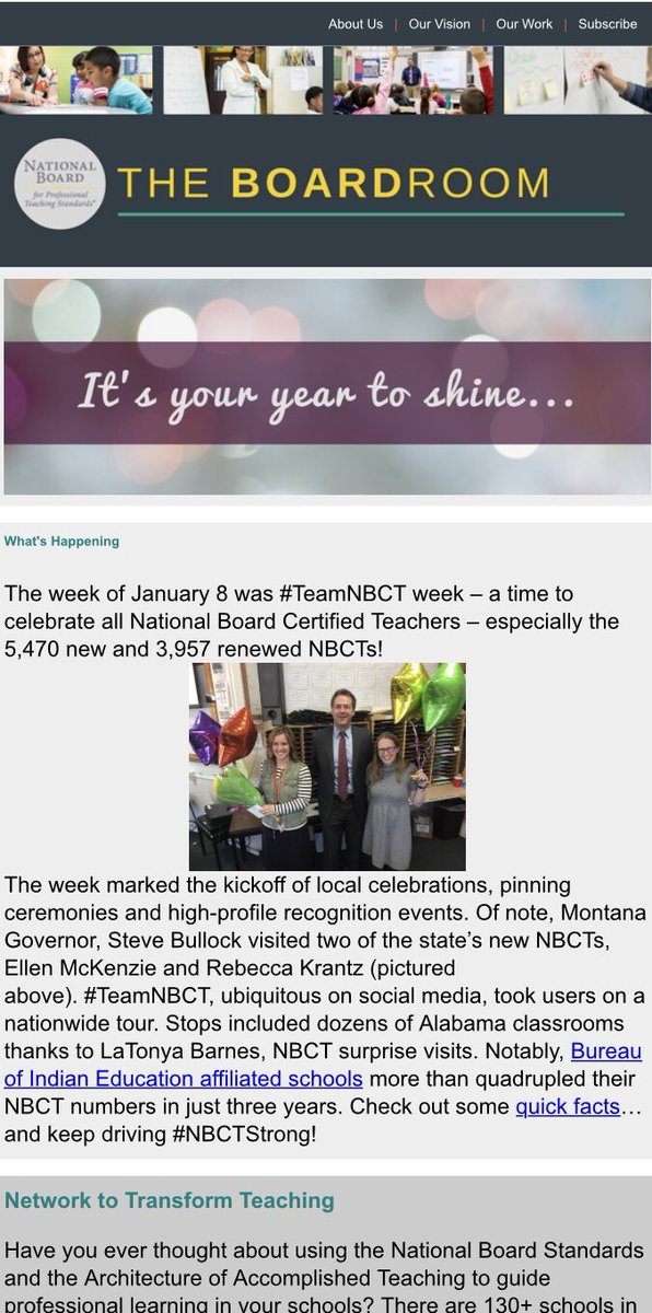 Alabama Made The National News! Alabama #NT3 Is Featured In The @NBPTS  Januaryu0027s Boardroom For Our Participation In #TeamNBCT Week!