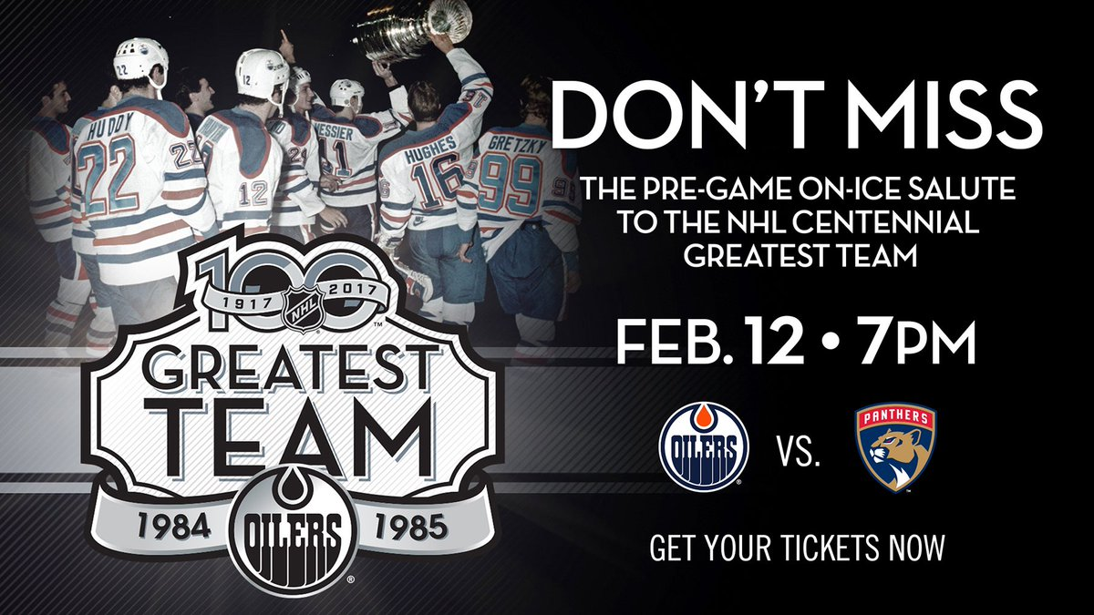 Edmonton Oilers On Twitter Members Of The 84 85 Nhlgreatestteam Will Be Honoured On Ice Prior To Tonight S Oilers Game Vs Florida Limited Tickets Still Available Https T Co Ggacwuqlal Https T Co 1efeqvax38