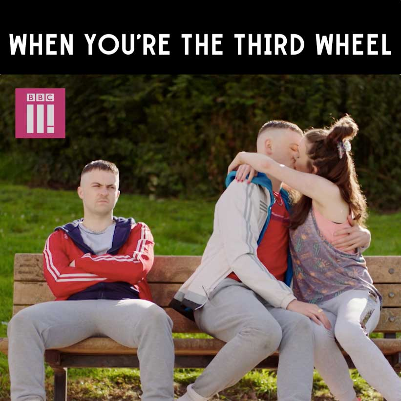 Shout out to all the third wheels today. #TheYoungOffenders https://t.co/1kZlxHs050