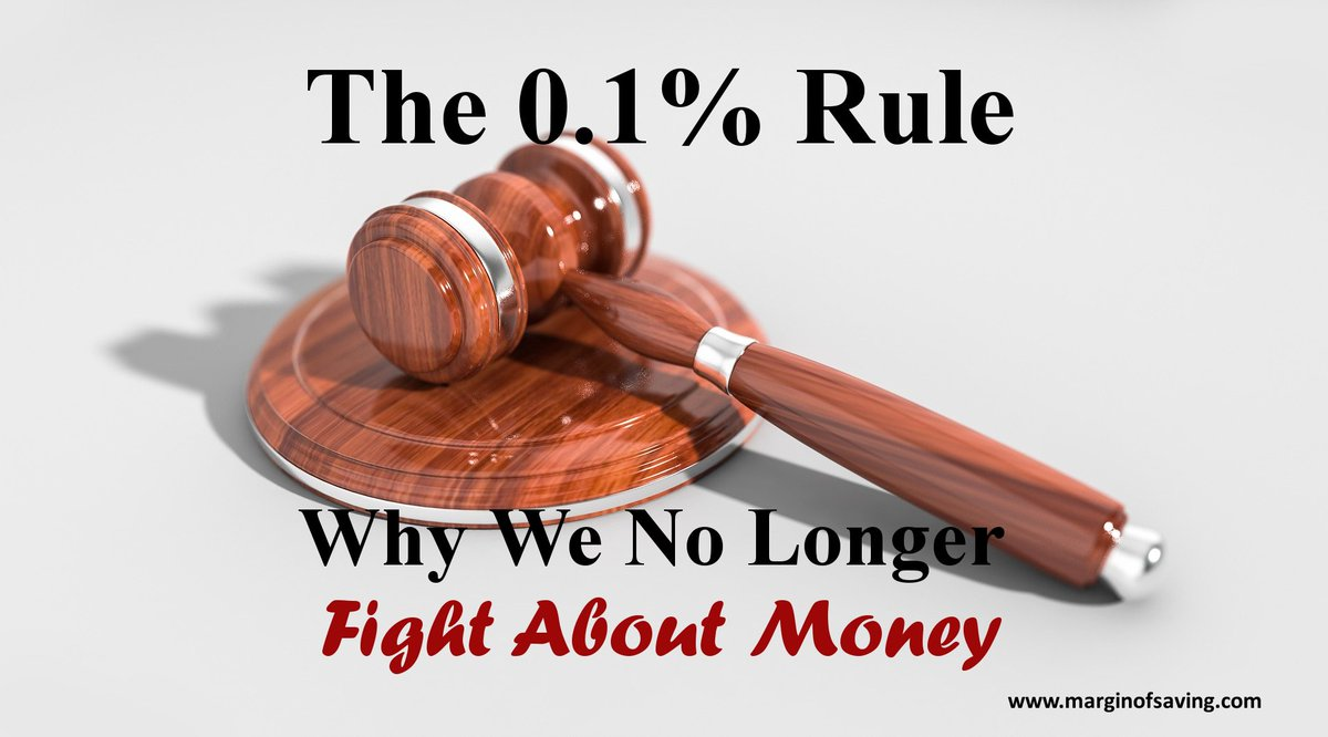 Prevent Money Fights With The 0.1% Rule...