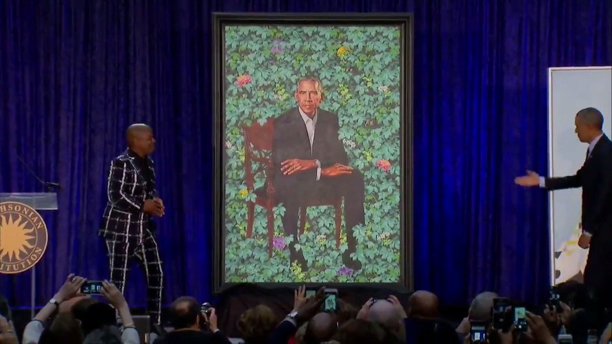 2018 in review: Obama portraits unveiled at the National Portrait Gallery via @ReutersTV