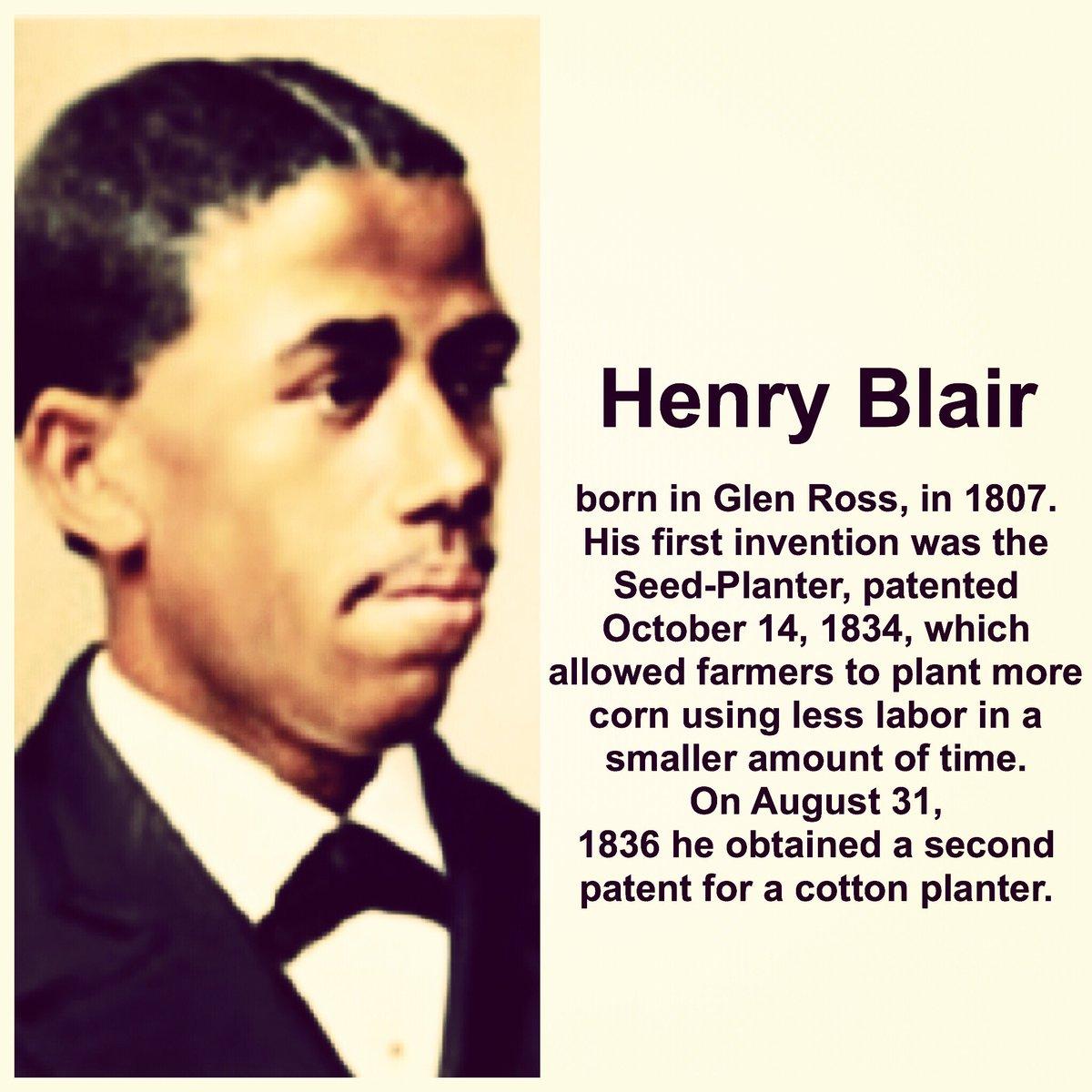 Stacye Branche On Twitter Henry Blair Inventer