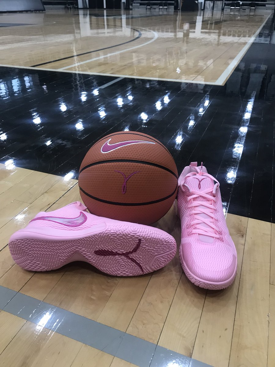 wearing these pink shoes