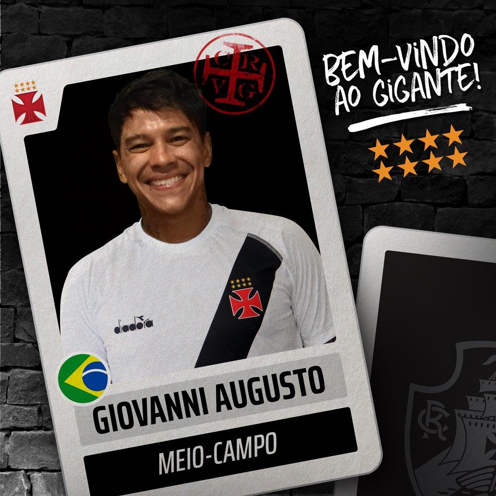 O meia Giovanni Augusto é o novo reforço do Vasco para a temporada 2018! Contratado por empréstimo até o fim do ano, o jogador foi apresentado oficialmente em São Januário nesta tarde. https://t.co/vwwXV0PFw6  Bem-vindo ao Gigante! 💢