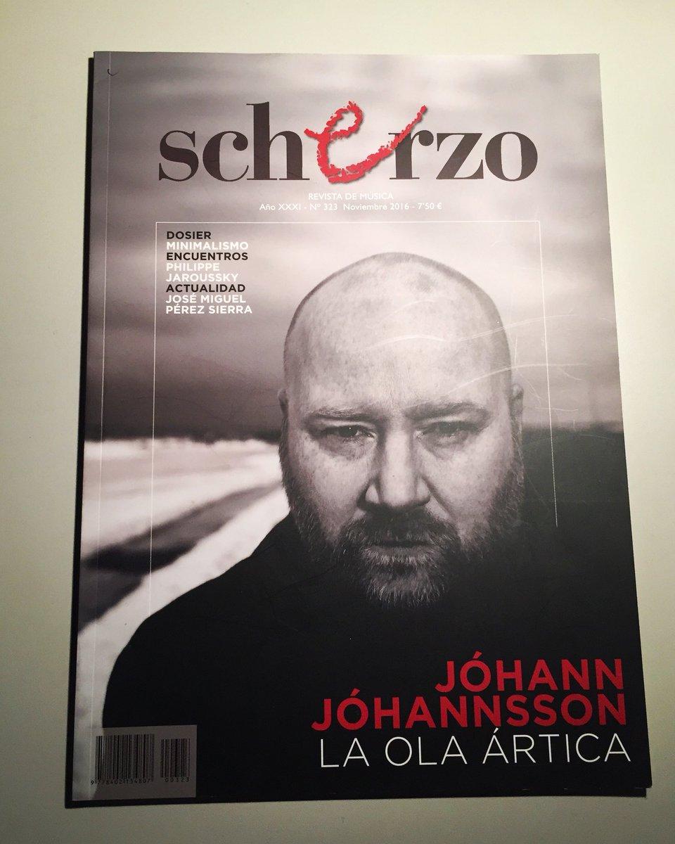 e86e74edeb Recuerdo que me hizo ilusión que estuviese él en la portada del número de  Scherzo en el que escribí por primera vez para la revista.