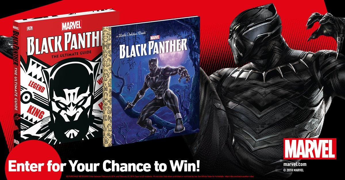 If it hasnt happened already, this sweepstakes will surely get the whole family excited about the @MarvelStudios #BlackPanther movie. Enter for your chance to win these great books to add to your familys library. bit.ly/2nUGUOO