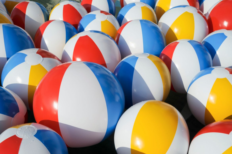 Yeah we got balls! Big, bouncy beach bal...