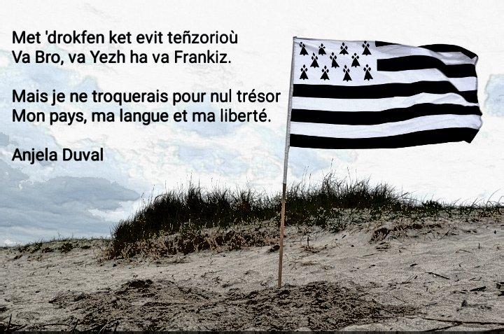 """Étienne au Cœur de Breizh on Twitter: """"Bonsoir à tous ! Voici une citation  d'Anjela Duval, dans le poème Karantez Vro (L'amour du pays) mis en musique  par Véronique Autret et reprises"""