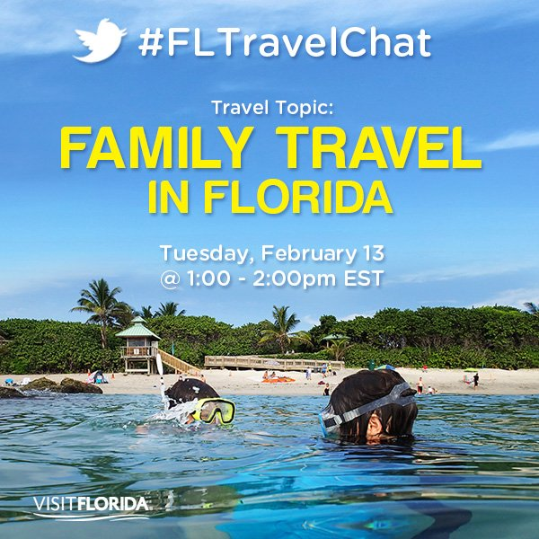 Join us TOMORROW for #FLTravelChat at 1...