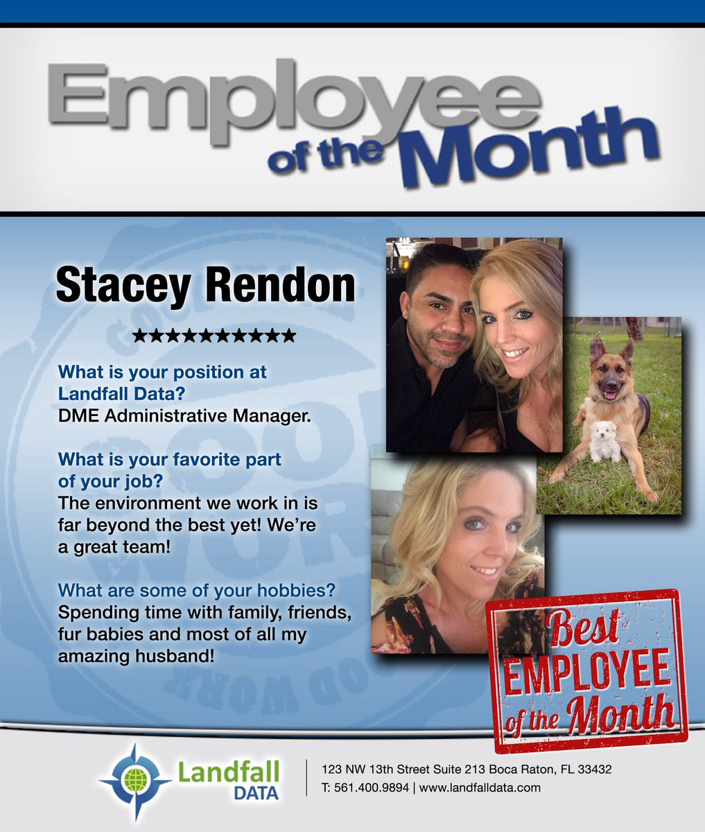 landfalldata on twitter stacey rendon is our employee of the month