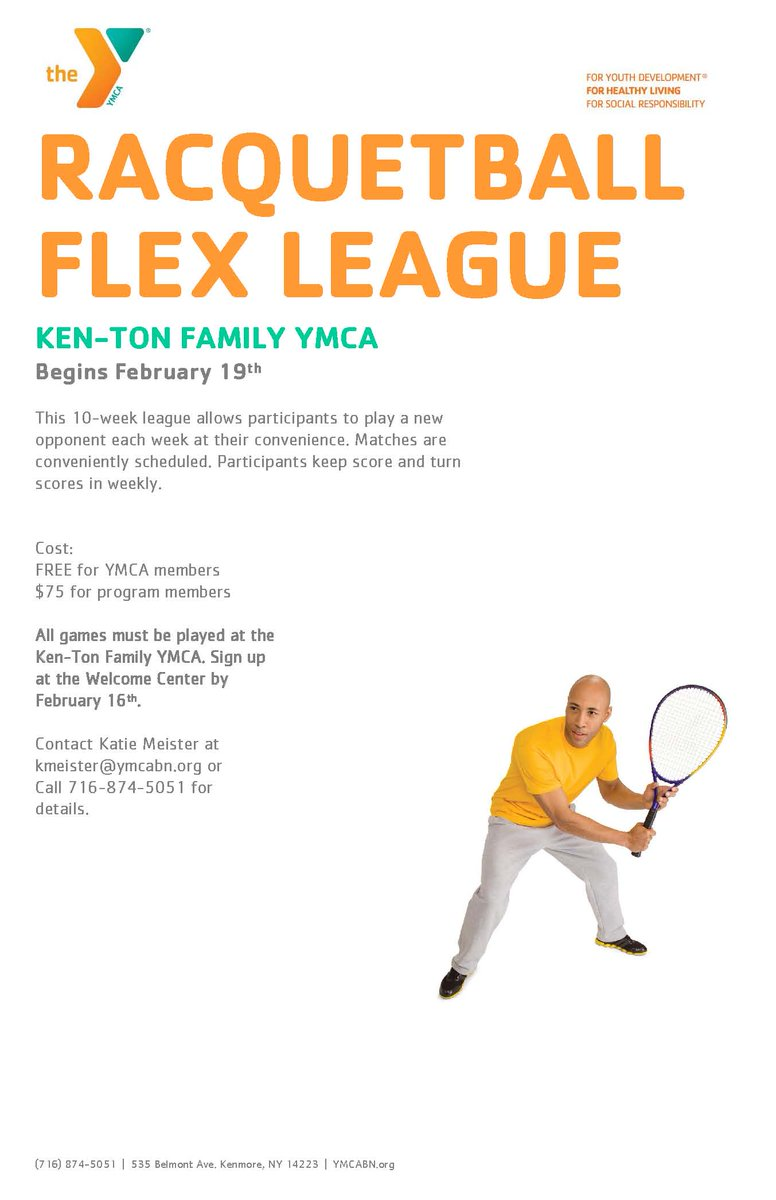 ymca buffalo niagara on twitter calling all racquetball players