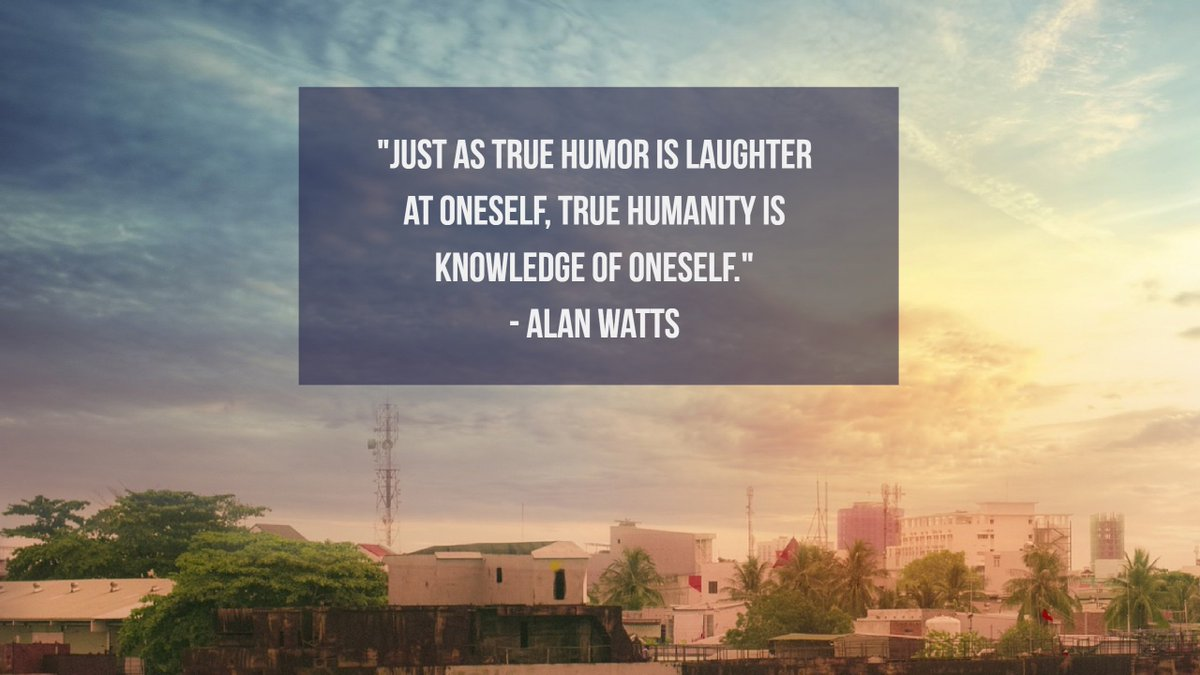 'Just as true humor is laughter at onese...