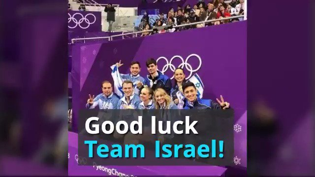 Israel is proud to participate in @pyeongchang2018 with its largest ever delegation to the Winter #Olympics, competing in #FigureSkating   #AlpineSkiing  #Skeleton  #SpeedSkating. Go Team Israel! 🇮🇱