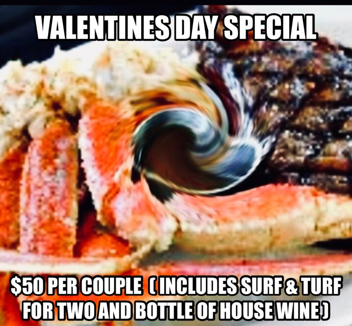 FEB 14th is extra specials for couples t...