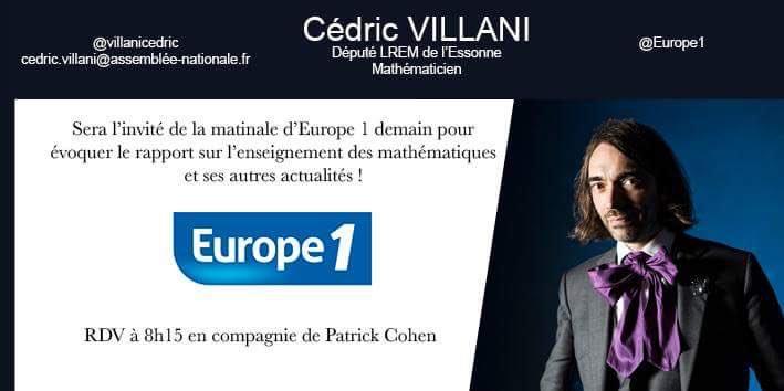 Cédric Villani's photo on Villani