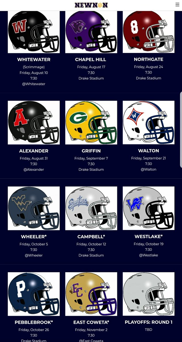Newnan Football On Twitter Join Us For The 2018 Newnan Football