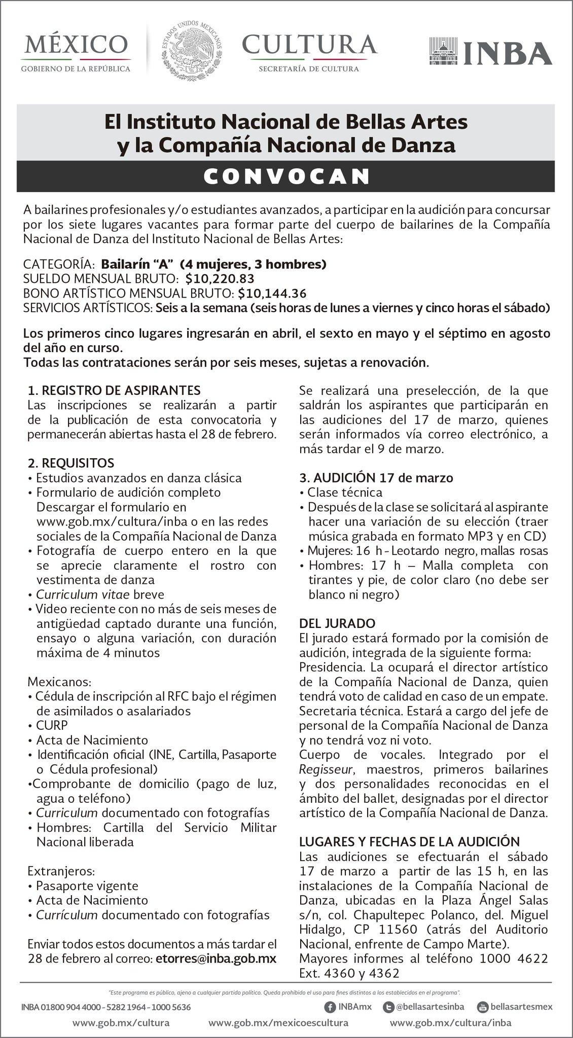 Cndanzamx On Twitter Felizlunes Continua Abierta La Convocatoria