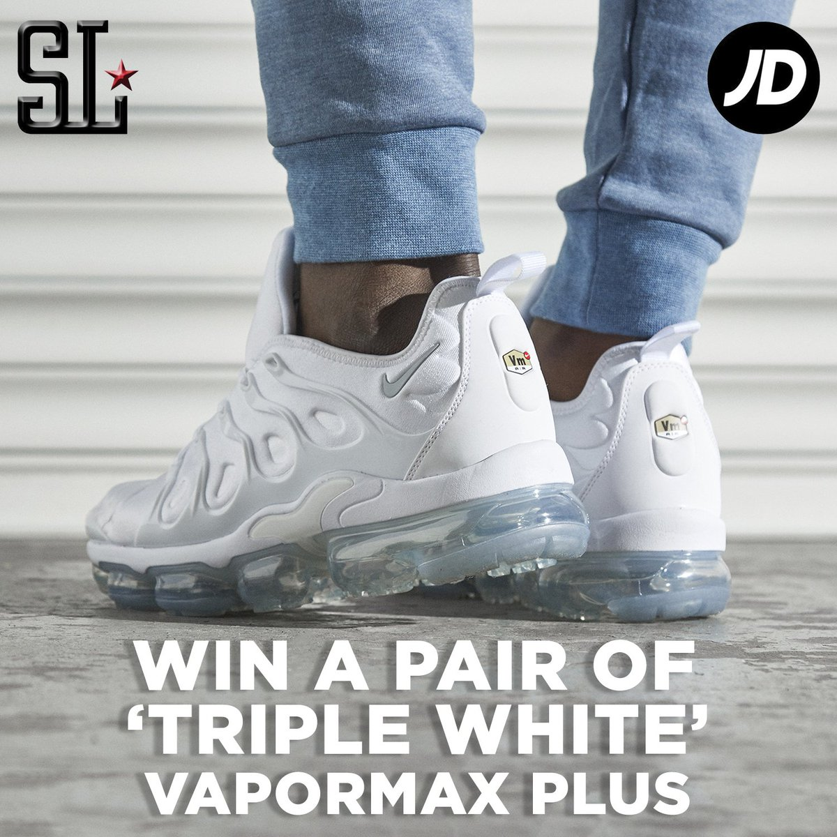 892c6a0853 ... pair of Nike Air VaporMax Plus 'White' - will pick a winner on Feb  20th. Must be following @SOLELINKS and @JDOfficial. Details =>  http://bit.ly/2EZr2lj ...