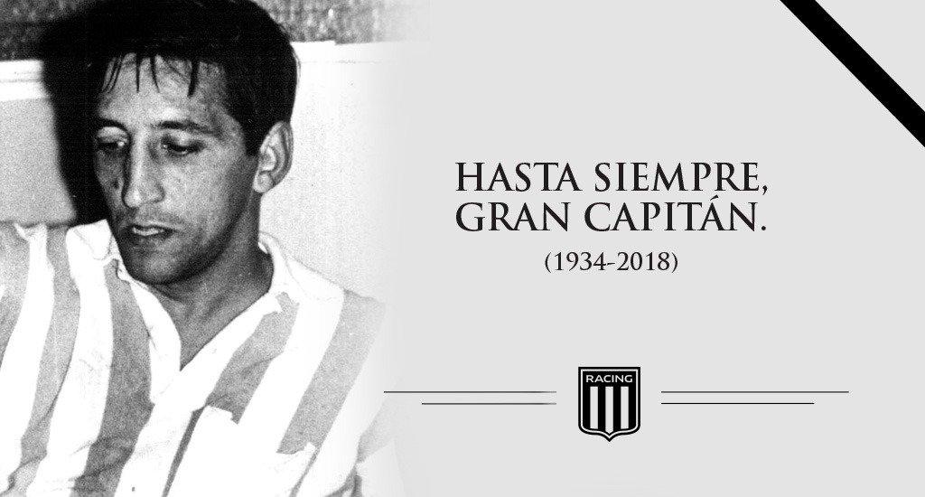 #HastaSiempreGranCapitan Racing Club lamenta comunicar que a los 83 años falleció Oscar Martín, eterno referente del Equipo de José y de la historia de nuestro club. La institución le envía sus condolencias a sus familiares y los acompaña en este difícil momento.