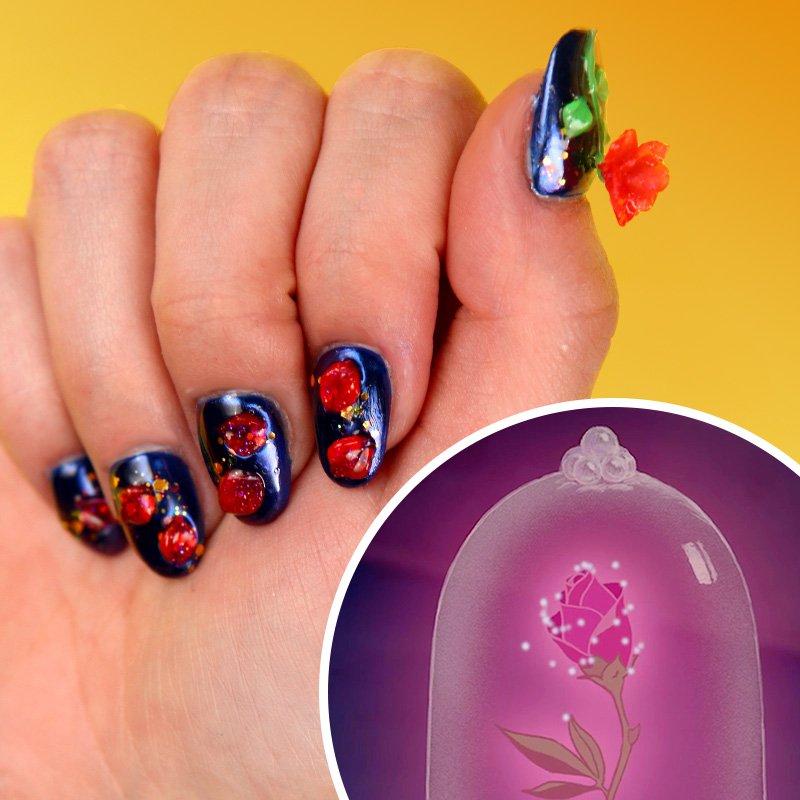 Get enchanted by #BeautyandtheBeast nail...