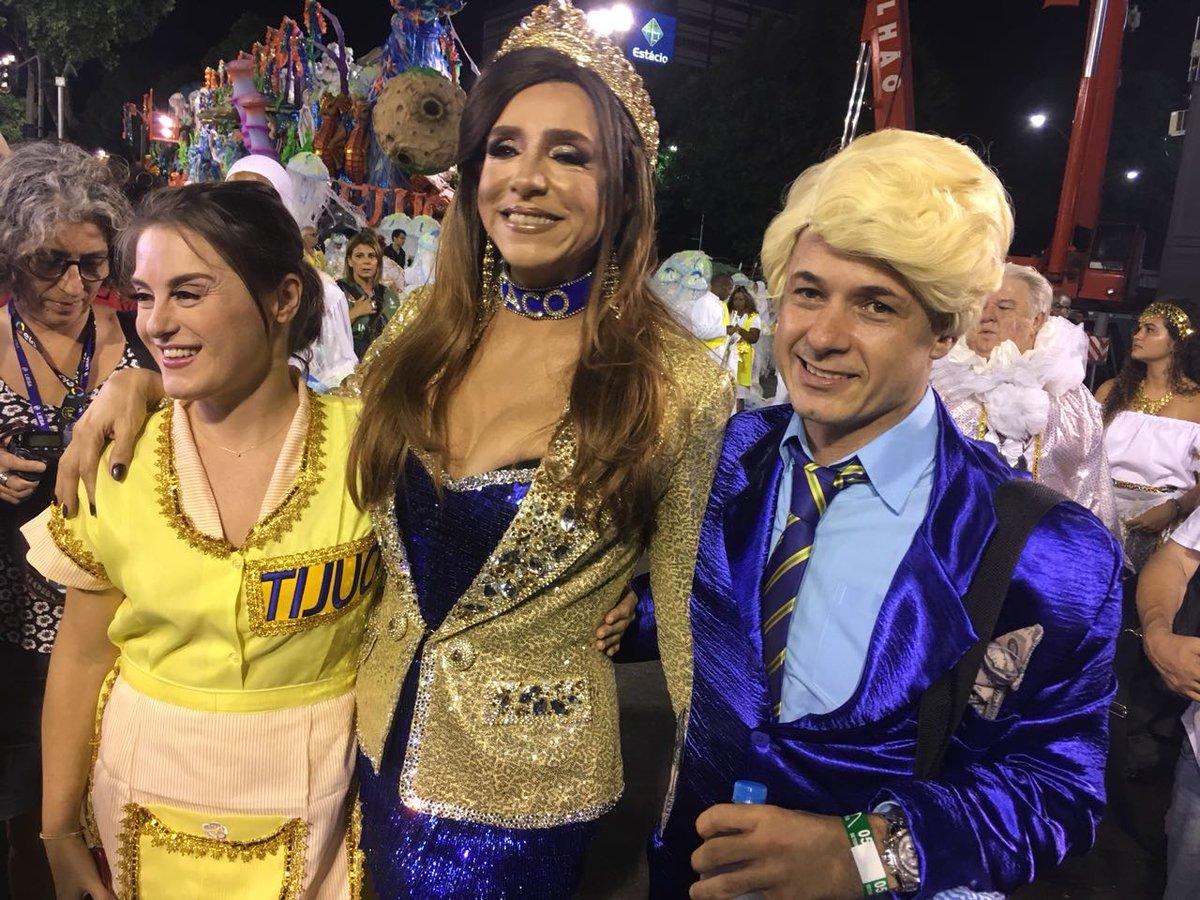 A #UnidosdaTijuca vem estrelada para a #Sapucaí: Alessandra Maestrini, Estela Miranda, Aracy Balabanian e Marisa Orth já estão a postos para o desfile. #Carnaval2018
