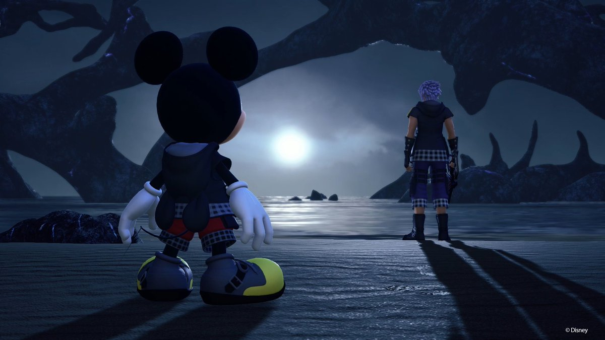 Image result for riku and mickey kingdom hearts 3