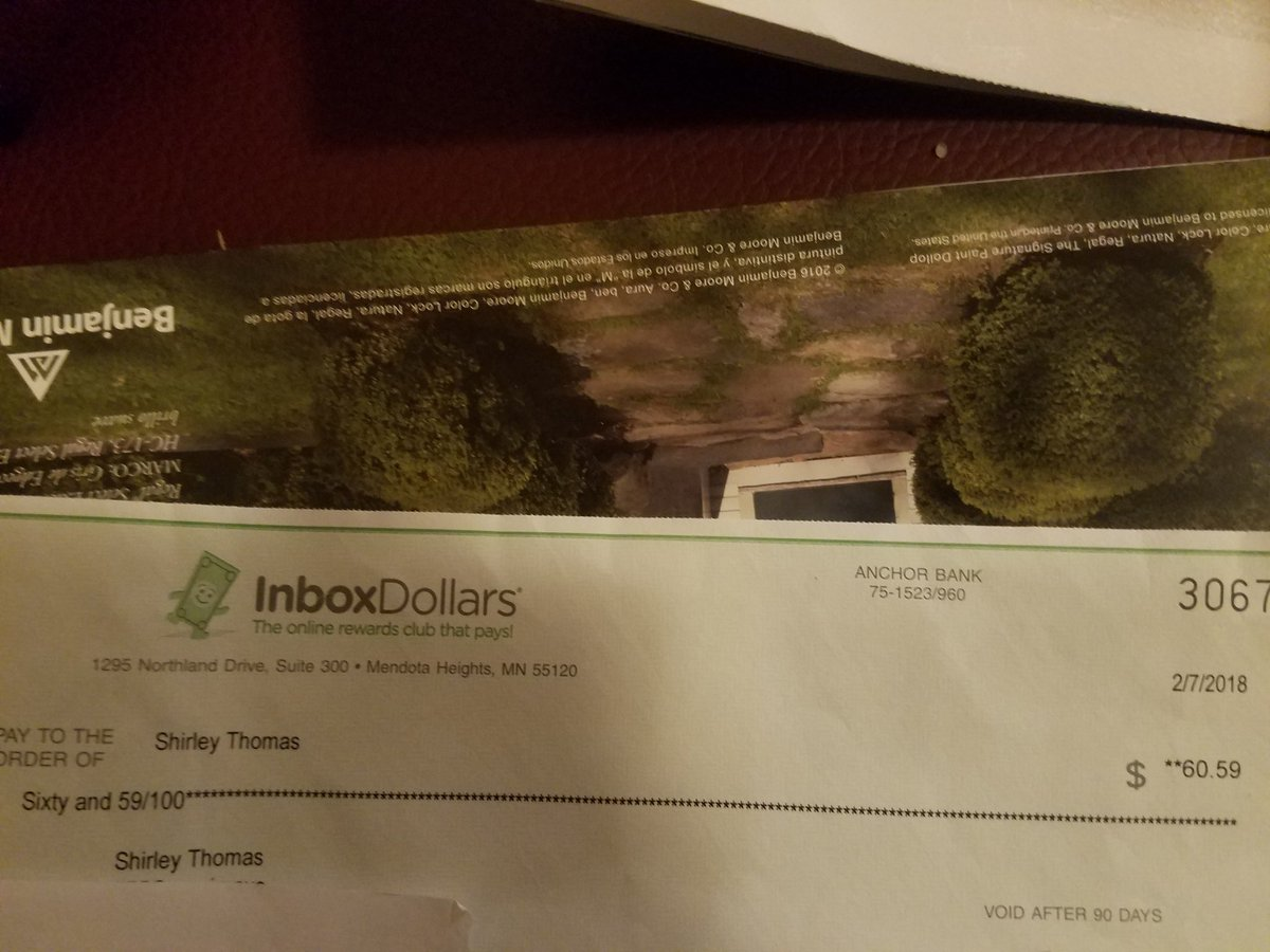 Thank you @InboxDollars you're my favori...