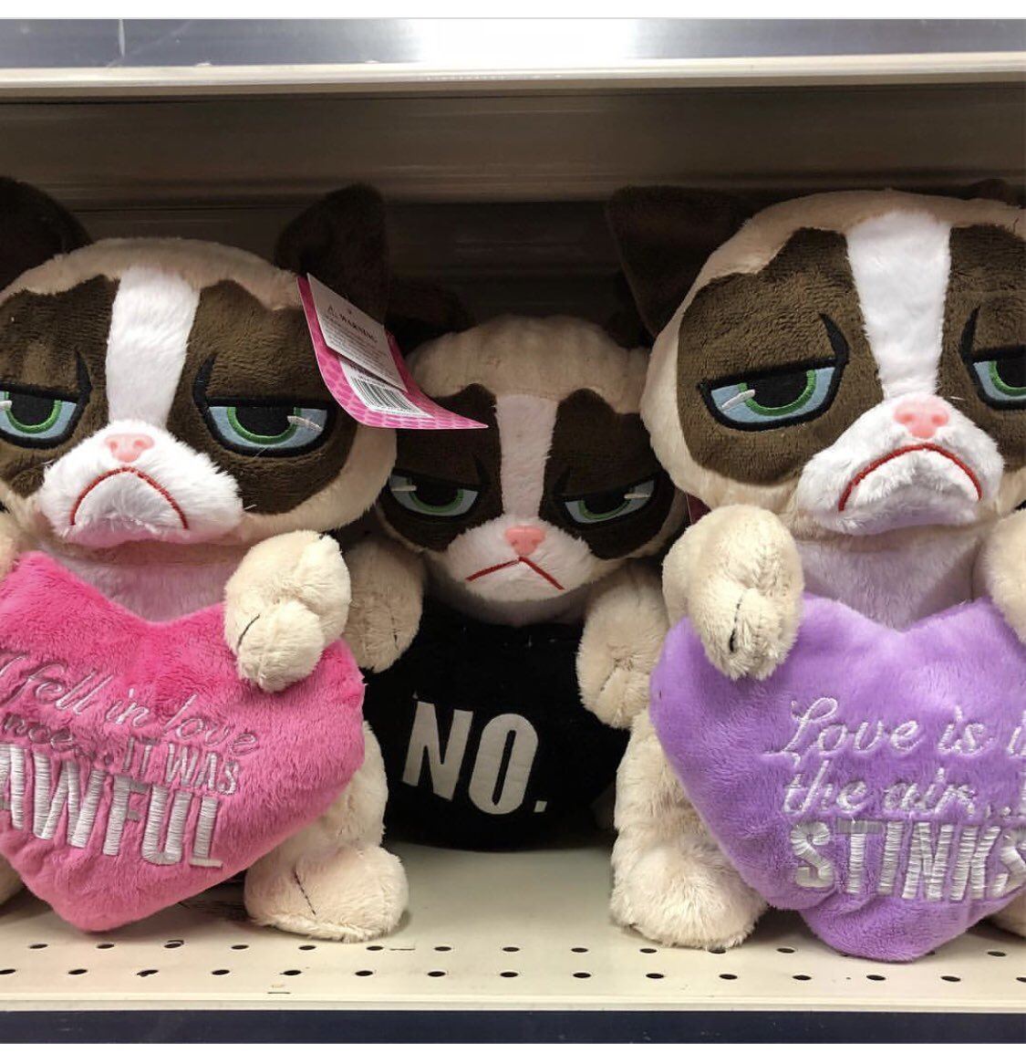 Show Them You REALLY Care with a Last Minute #ValentinesDay Grumpy Cat Plush. Available EXCLUSIVELY at @cvspharmacy