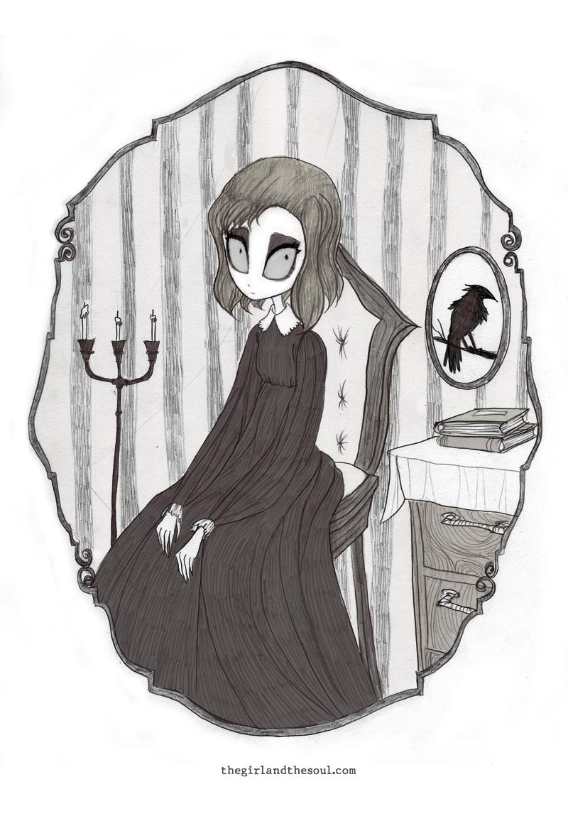 I Enjoy Drawing Broken Heart Stories Gothic Ladies And Strange People VisibleWomenpictwitter NTw4UmXie2