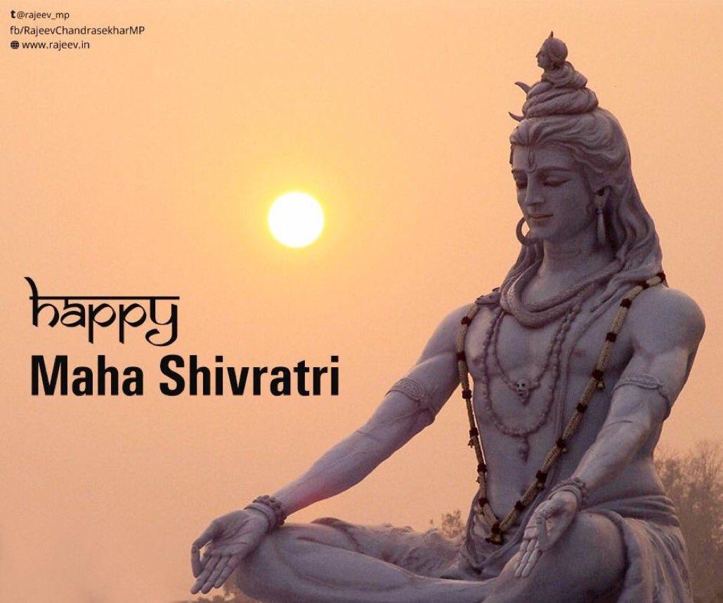 Rajeev Chandrasekhar's photo on #MahaShivaratri