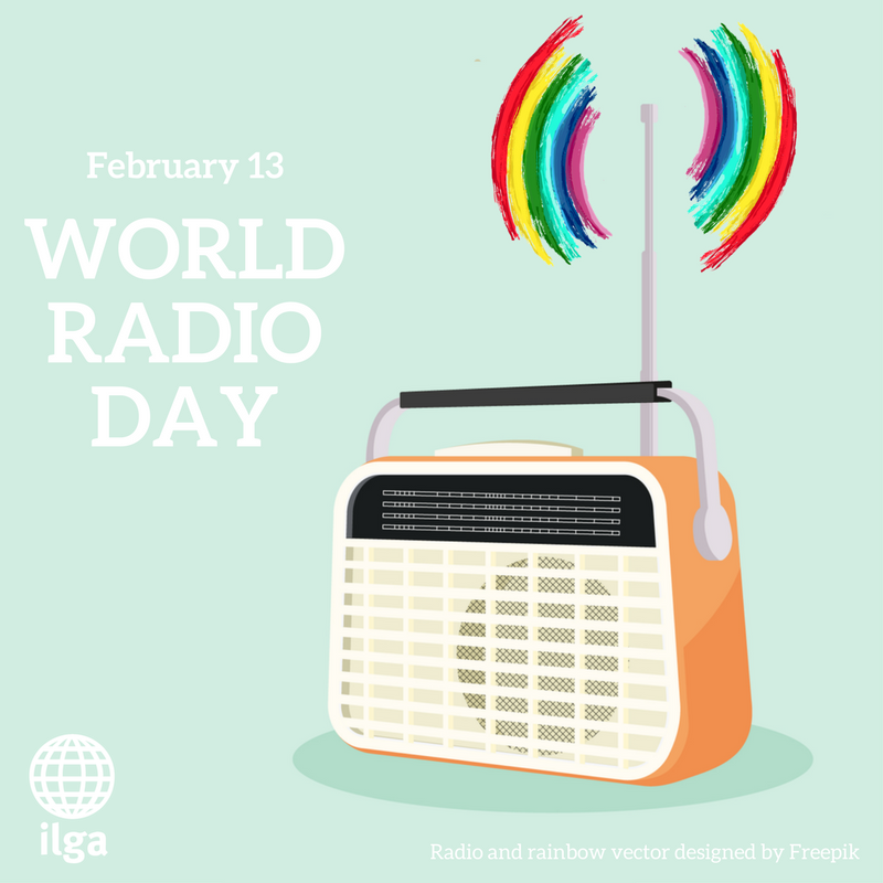 Today is #WorldRadioDay, and a special shoutout goes to all those radio stations empowering and giving voice to LGBTI communities worldwide! #DiaMundialDeLaRadio #WorldRadioDay2018<br>http://pic.twitter.com/vVaZvEfIeS