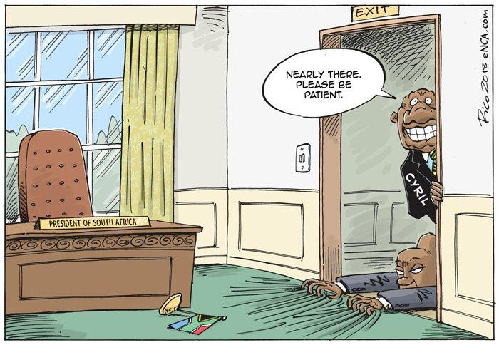 Cartoon for @eNCA #Zumexit #CyrilRamaphosa #ZumaRecall #ZumaExit
